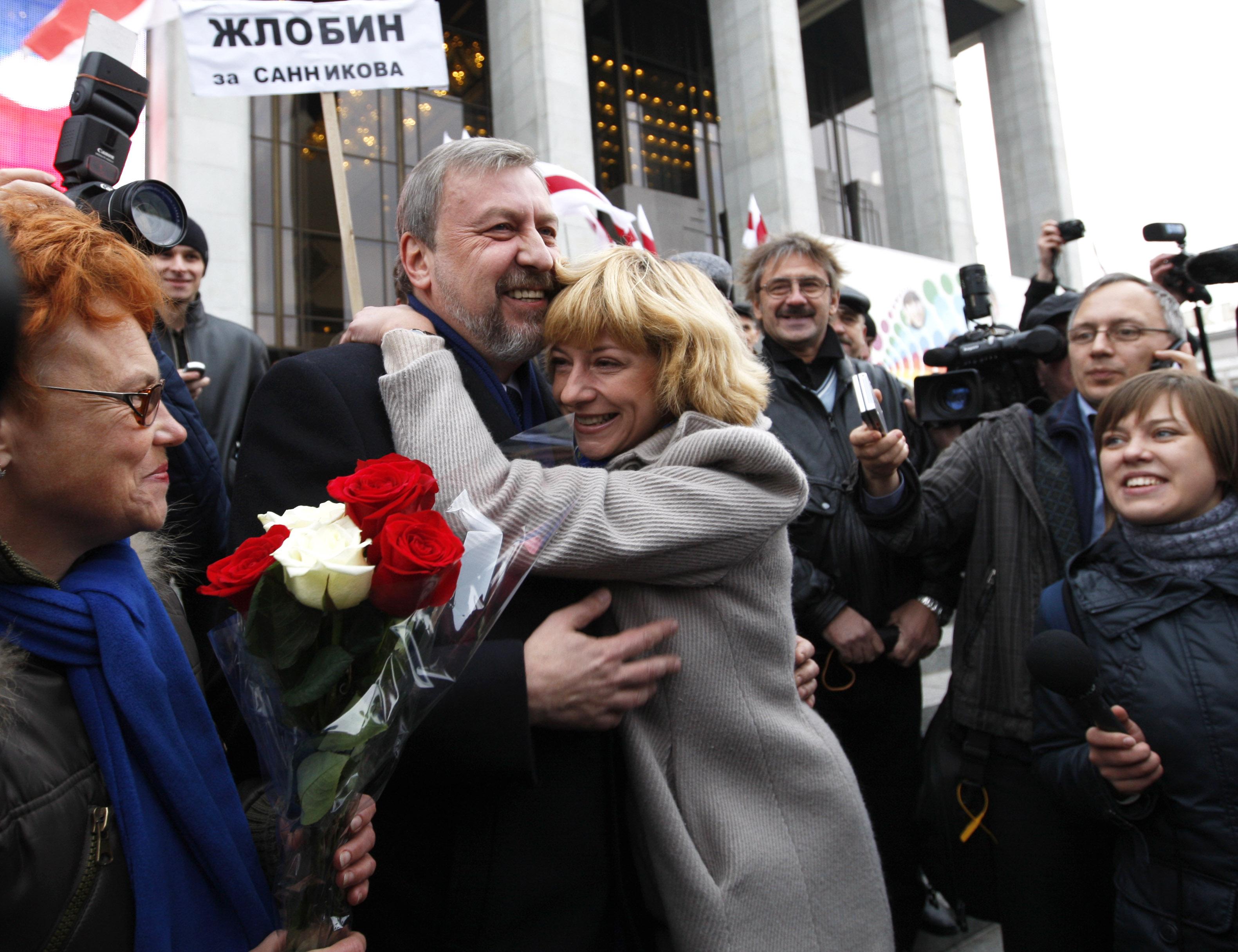Андрэй Саннікаў і Ірына Халіп сустрэліся на ВВС