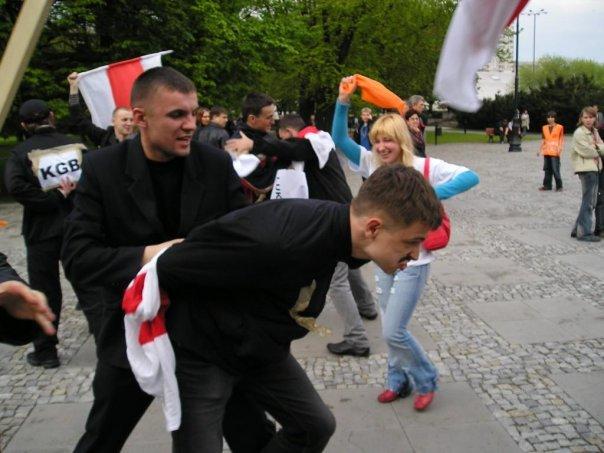 Флэш моб у Варшаве